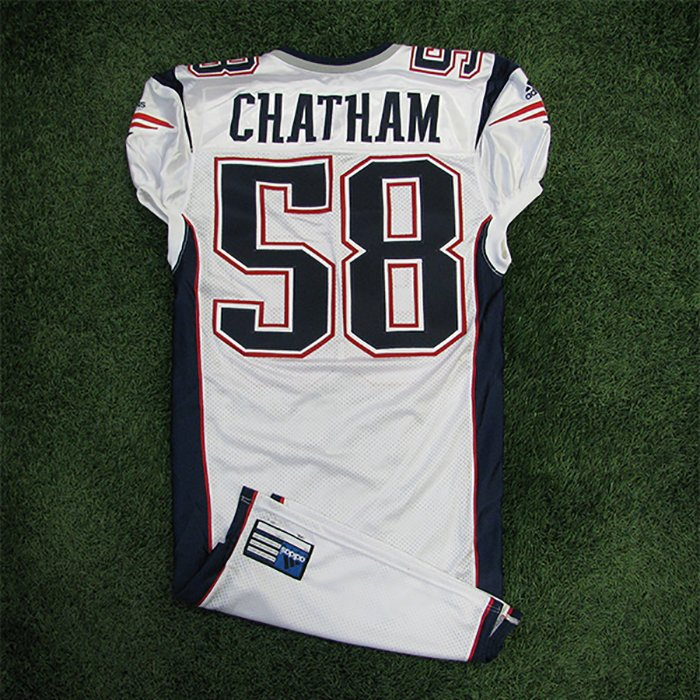 2001 Matt Chatham Team Issued #58 White Jersey