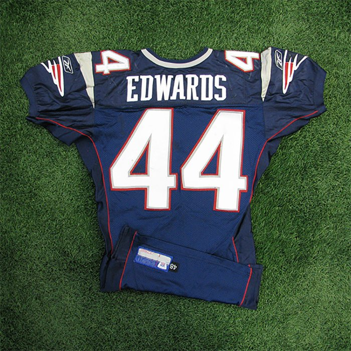 2002 Marc Edwards Game Worn #44 Navy Jersey