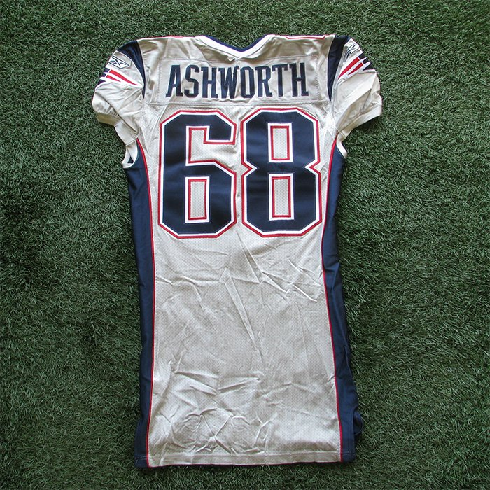 2003 Tom Ashworth Game Worn #68 Silver Jersey