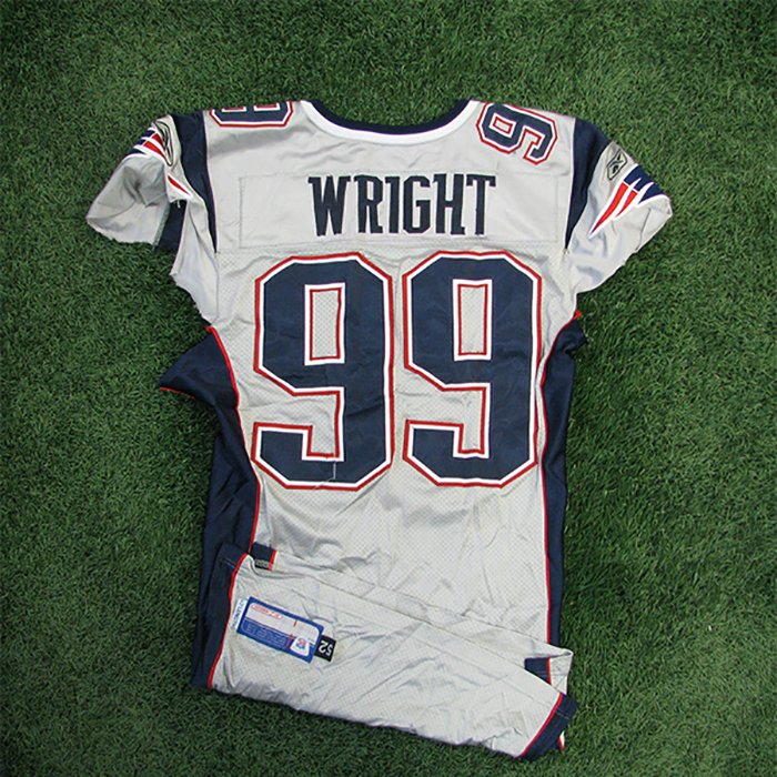 2005 Mike Wright Game Worn #99 Silver Jersey