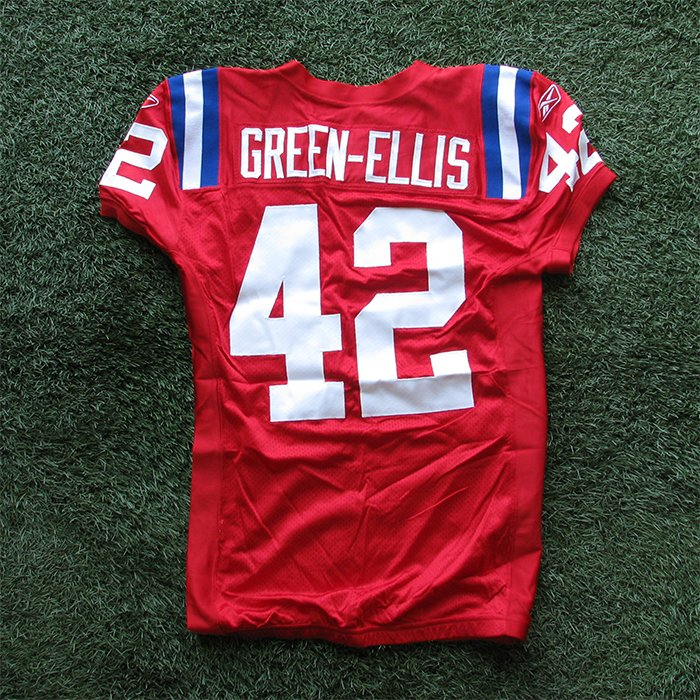 2009 BenJarvus Green-Ellis Team Issued #42 Throwback Jersey w/50th Patch