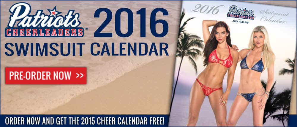 Cheerleader Calendar Pre-Order  - Desktop Slide