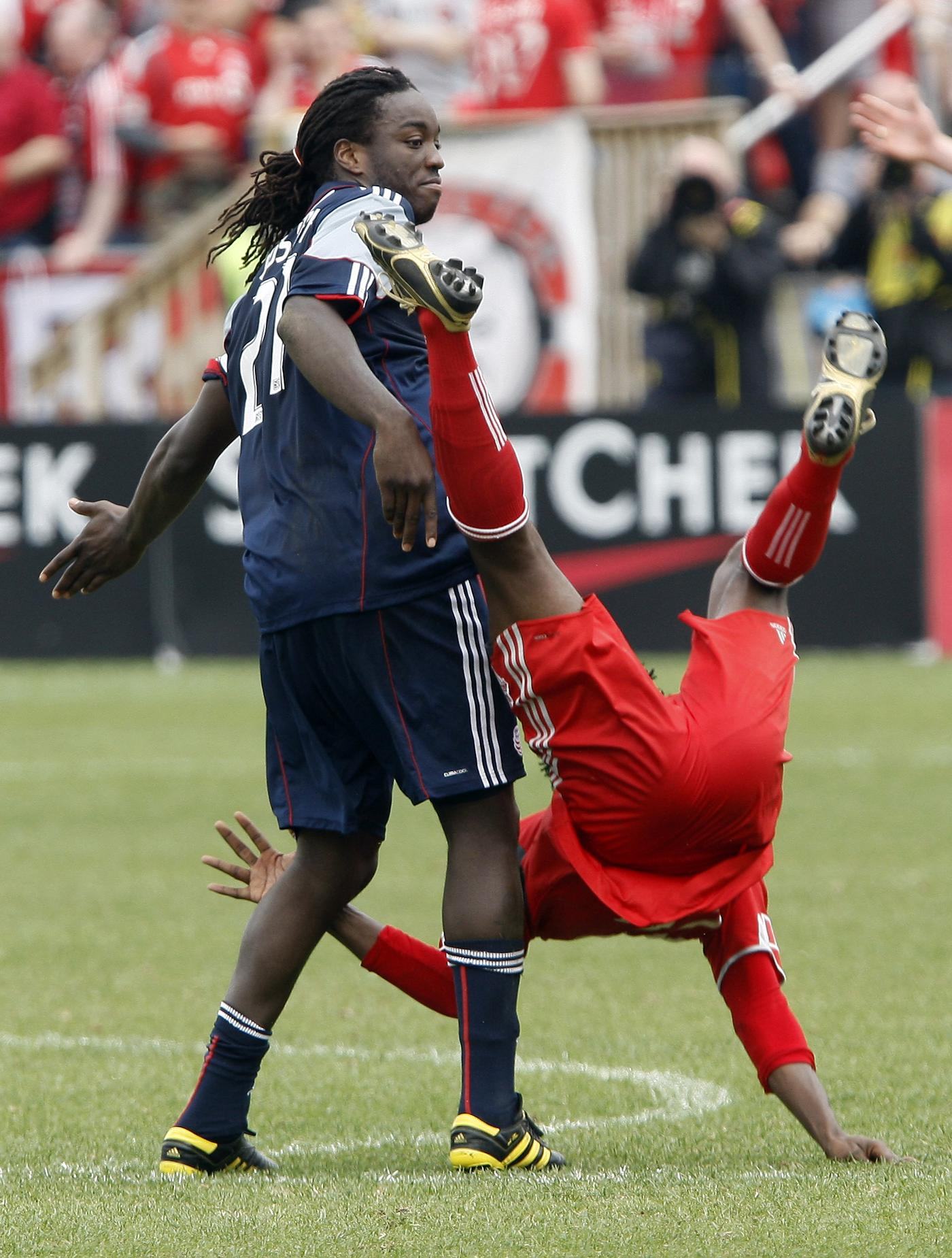 Shalrie Joseph returned to the lineup for the Revs on Saturday afternoon in Toronto