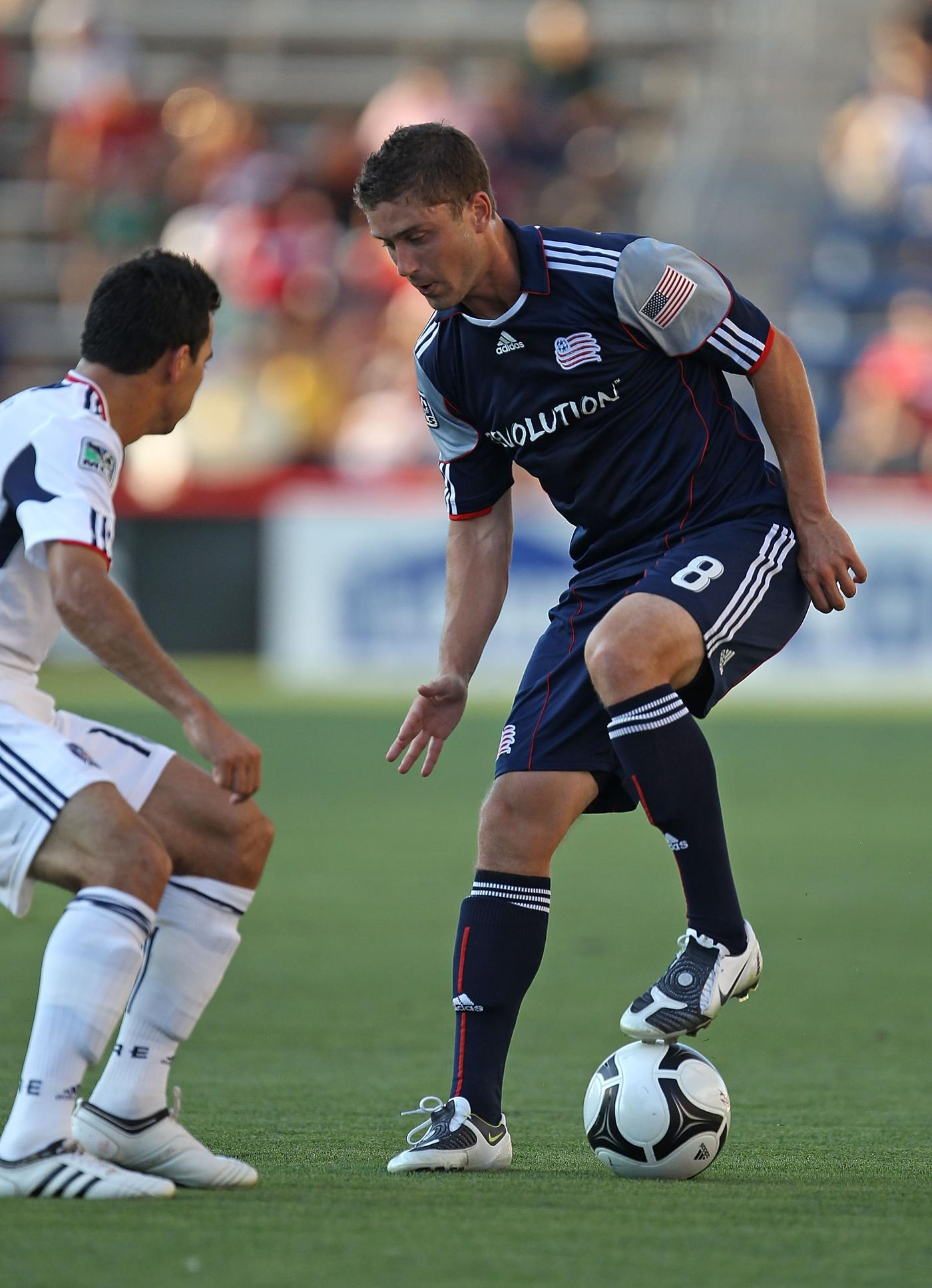 Chris Tierney has played five different positions for the Revs in 2010