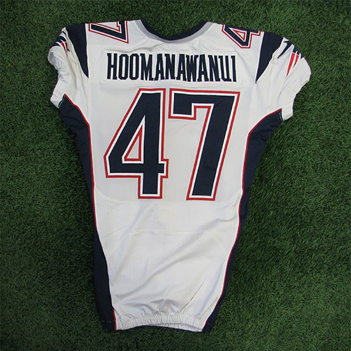 2012 Michael Hoomanawanui Game Worn #47 White Jersey