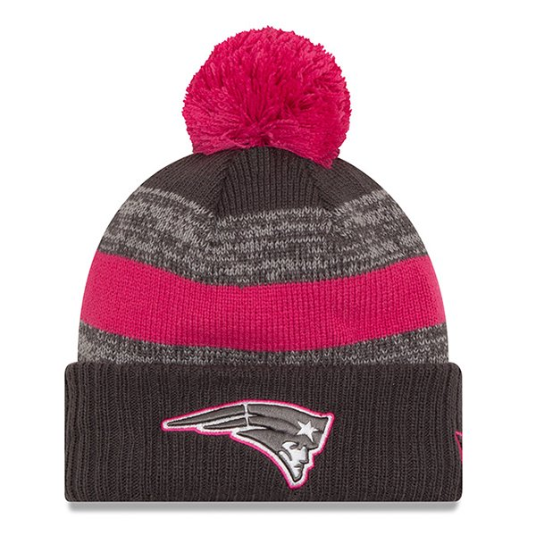 New Era 2016 BCA Pom Knit-Gray/Pink