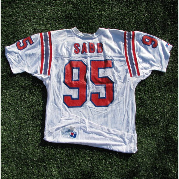 1992 Dwayne Sabb Game Worn #95 White Jersey