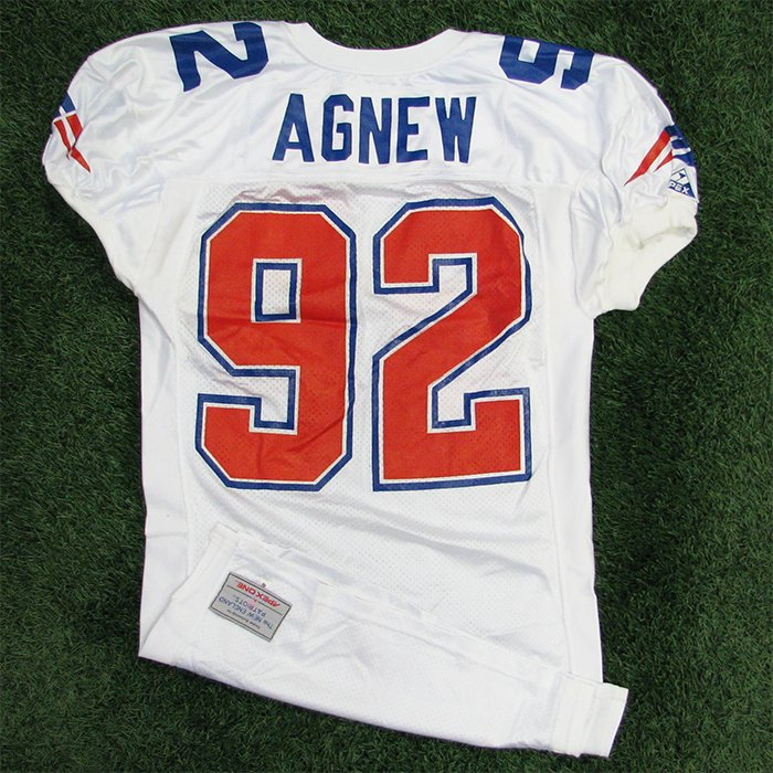 1993 Ray Agnew Team Issued #92 White Jersey