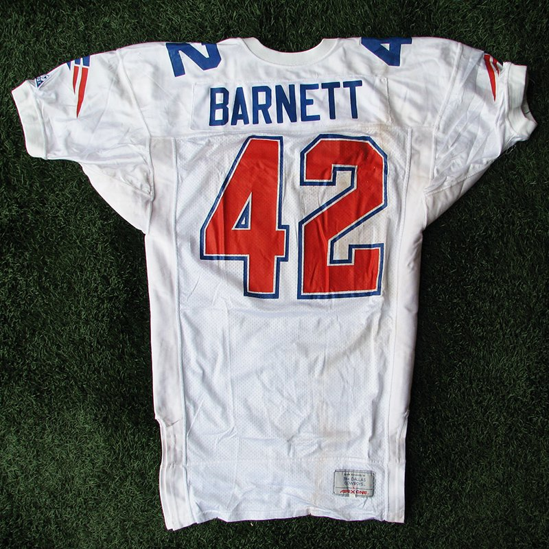 1993 Harlon Barnett Game Worn #42 White Jersey