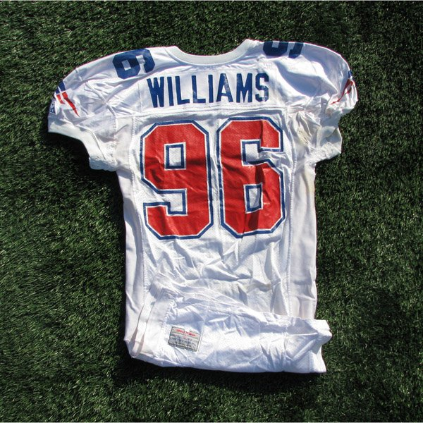 1993 Brent Williams Game Worn #96 White Jersey