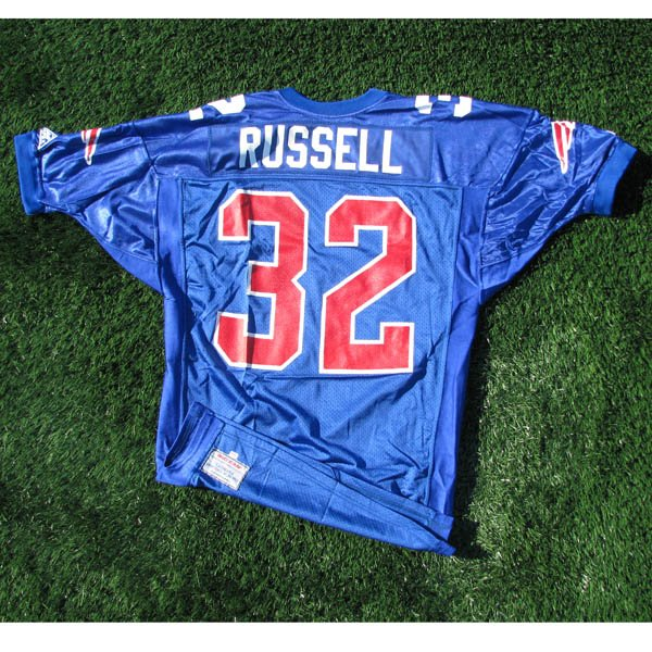 1993 Leonard Russell #32 Team Issued Royal Jersey