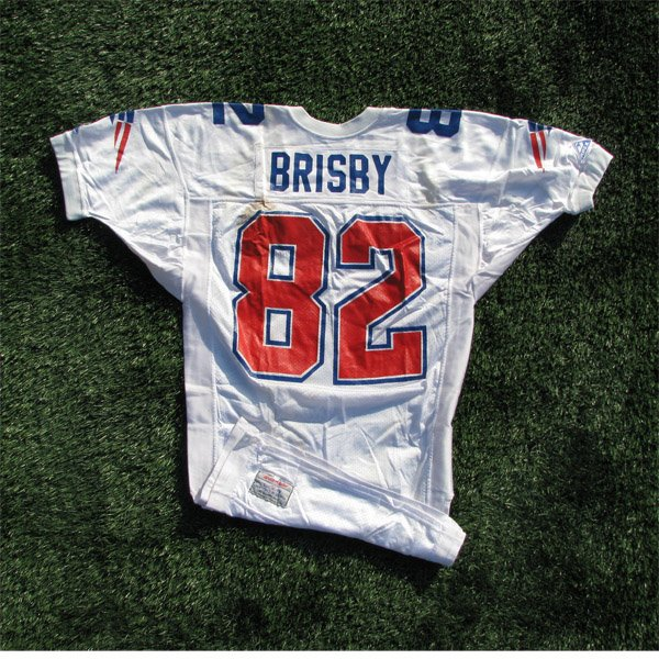 1993 Vincent Brisby Game Worn #82  White Jersey