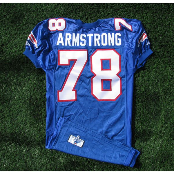 1994 Bruce Armstrong Royal Team Issued Jersey w/75th Patch