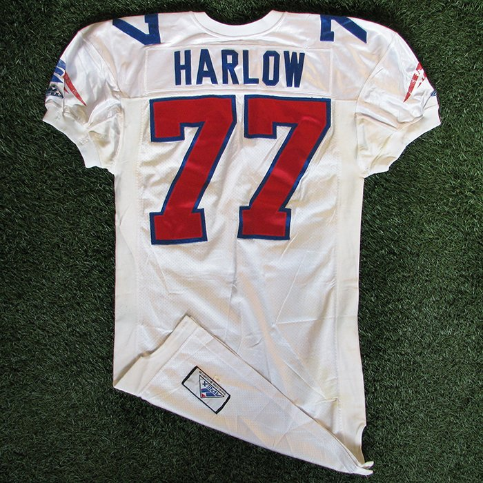 1994 Pat Harlow Game Worn #77 White Jersey