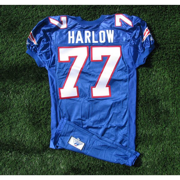 1994 Pat Harlow Team issued #77 Royal Jersey w/75th Patch