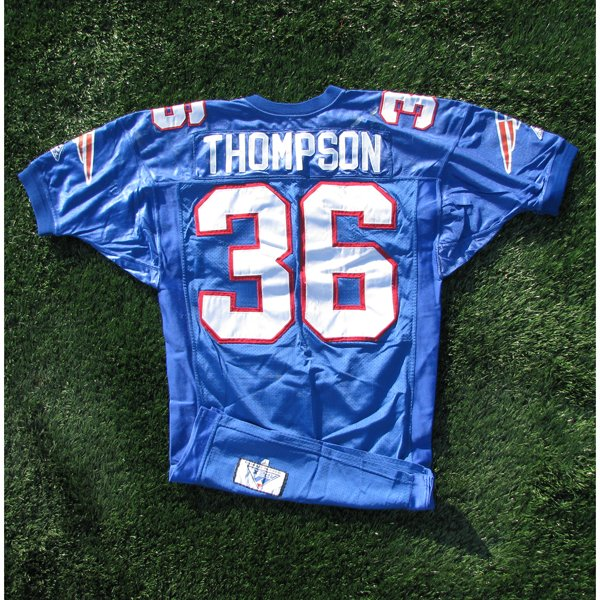 1994 Leroy Thompson #36 Royal w/75th Patch Game Worn Jersey