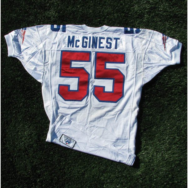 1994 Willie McGinest Game Worn #55 White Jersey