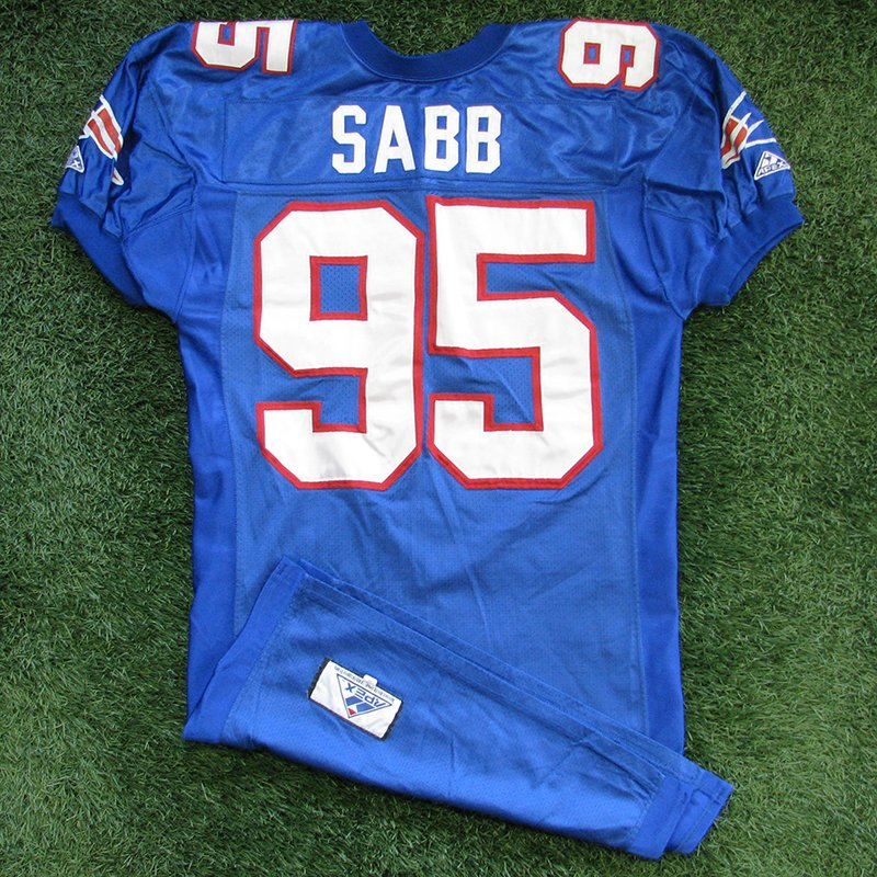 1994 Dwayne Sabb Game Worn Royal Jersey