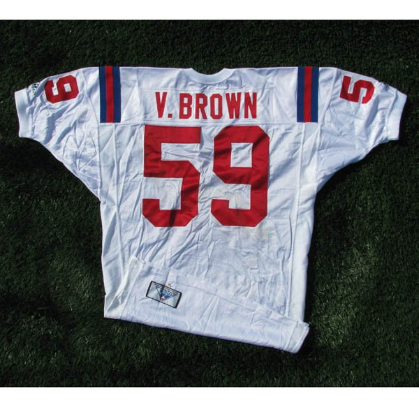1994 Vincent Brown Team Issued #59 White Throwback Jersey w/75th Patch