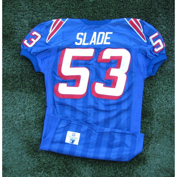 1996 Chris Slade Game Worn #53 Royal Jersey