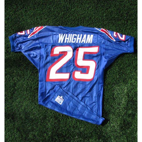 199596 Larry Whigham Game Worn 25 Royal Jersey