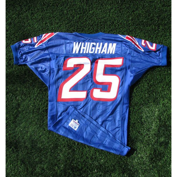 1995-96 Larry Whigham Game Worn #25 Royal Jersey