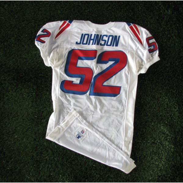 1995 Ted Johnson #52 White Team Issued Jersey