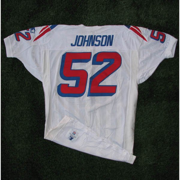 1995 Ted Johnson #52 White Game Worn Jersey
