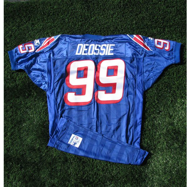 1995 Steve DeOssie #99 Royal Game Worn Jersey