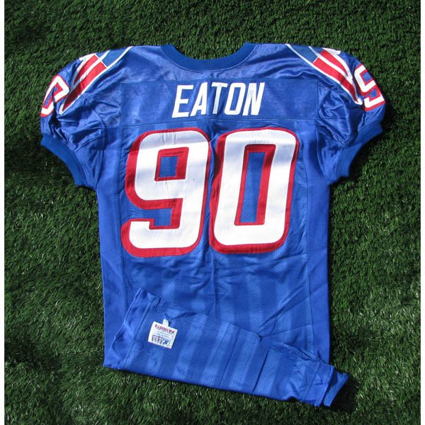 1996 Chad Eaton #90 Royal Game Worn Jersey
