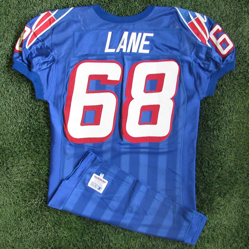 1996 Max Lane Game Worn #68 Royal Jersey