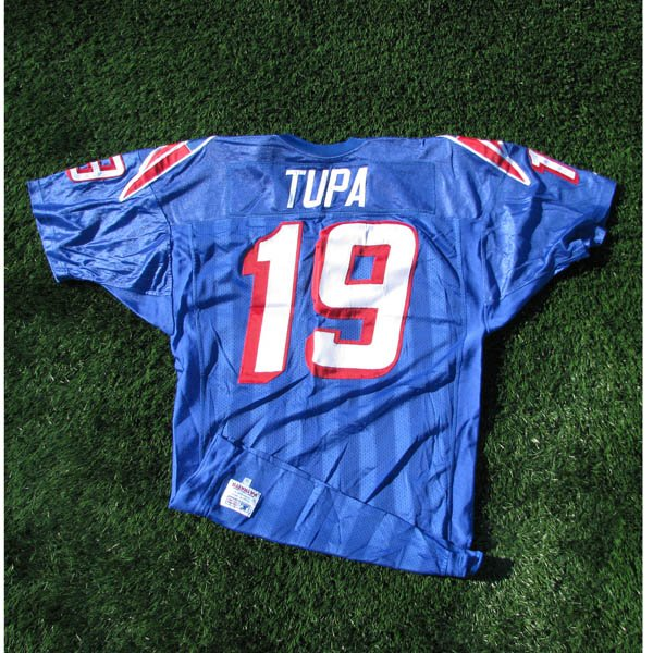 1996 Tom Tupa Game Worn #19 Royal Jersey
