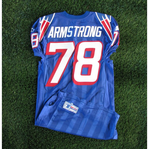 1997 Bruce Armstrong Team Issued #78 Royal Jersey