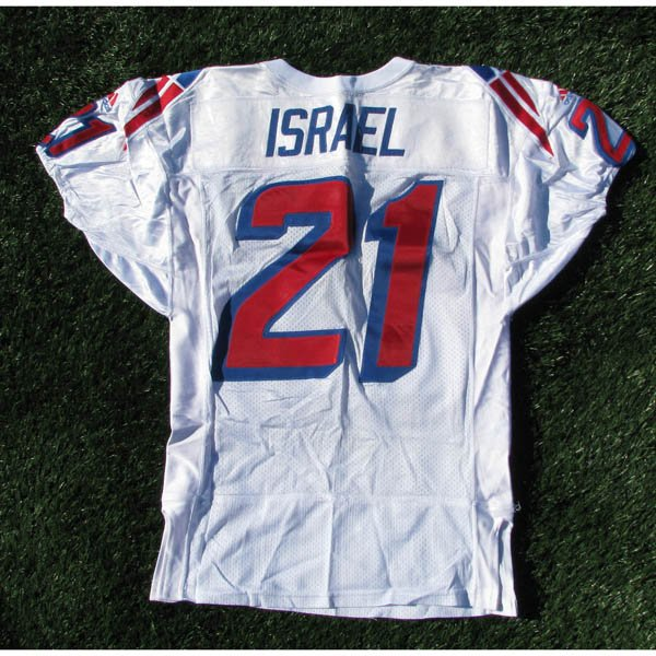 1997 Steve Israel #21 White Team Game Worn Jersey