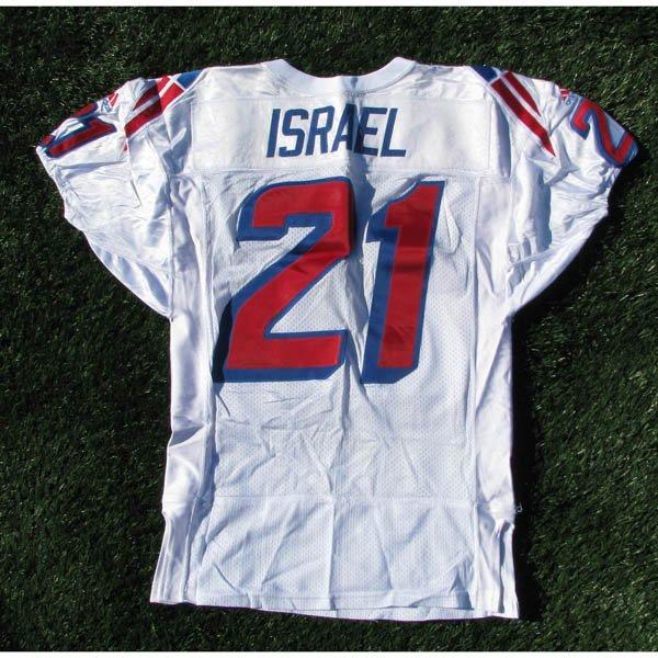 1997 Steve Israel #21 White Team Game Worn Jersey