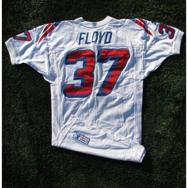 1998 Chris Floyd Game Worn #37 White Jersey