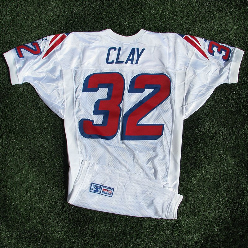 1998 Willie Clay Team Issued #32 White Jersey