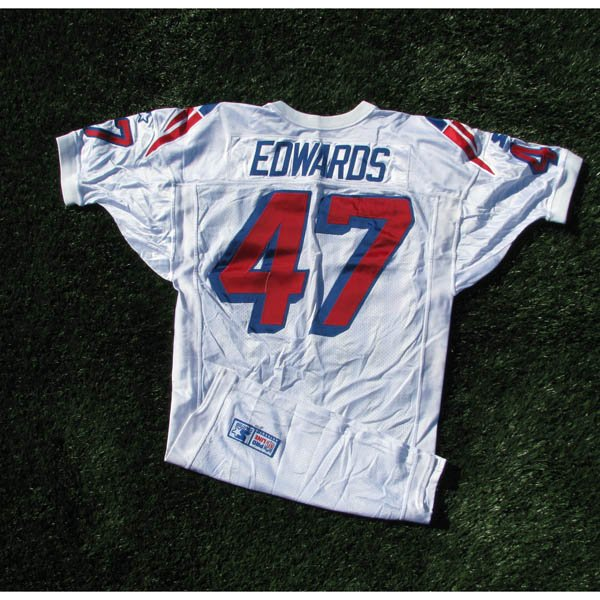 1998 Robert Edwards #47 White Game Worn Jersey