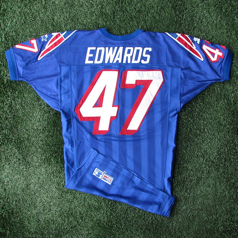 1998 Robert Edwards Game Worn #47 Royal Jersey