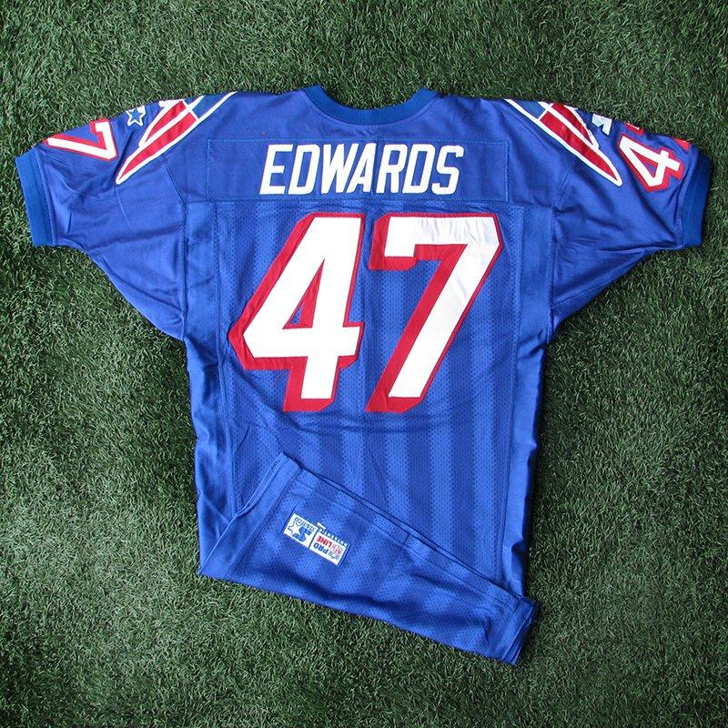 1998 Robert Edwards Game Worn #47 Royal Jersey