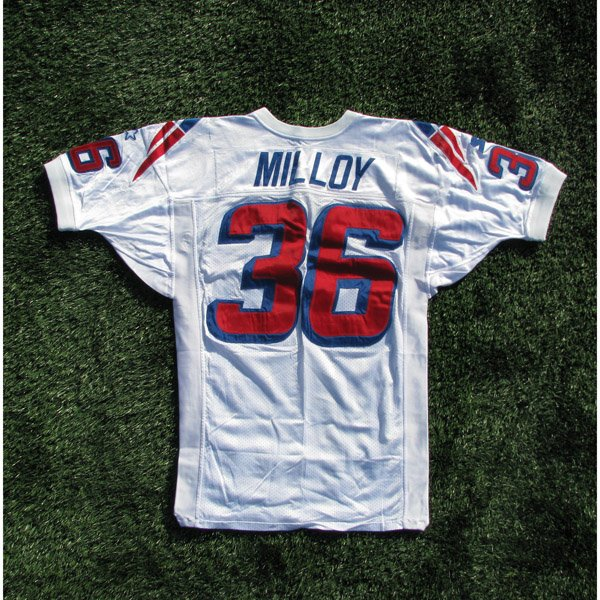 1998 Lawyer Milloy Game Worn #36 White Jersey