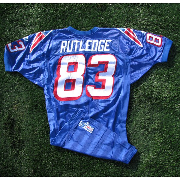 1998 Rod Rutledge Game Worn #83 Royal Jersey