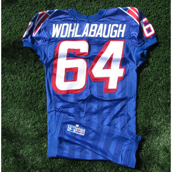 1998 Dave Wohlabaugh Team Issued #64 Royal Jersey