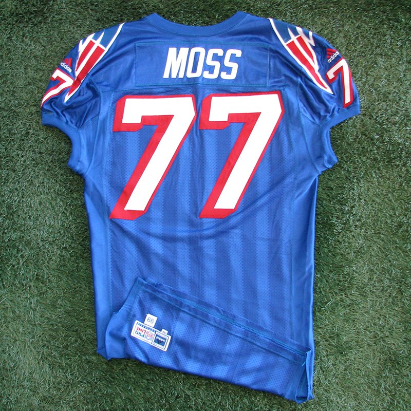 1999 Zefross Moss Game Worn #77 Royal Jersey