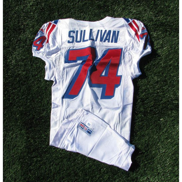 1999 Chris Sullivan Game Worn #74 White Jersey