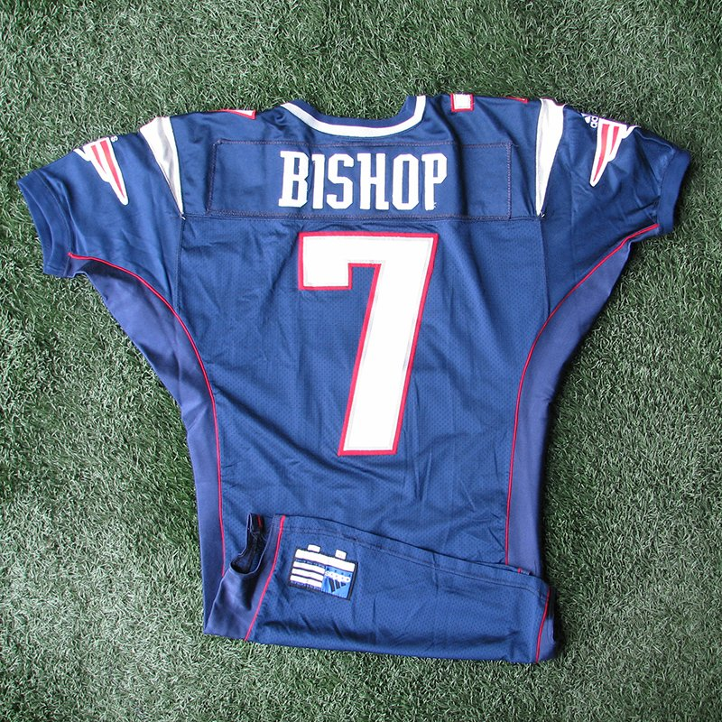 2000 Michael Bishop Team Issued #7 Navy Jersey