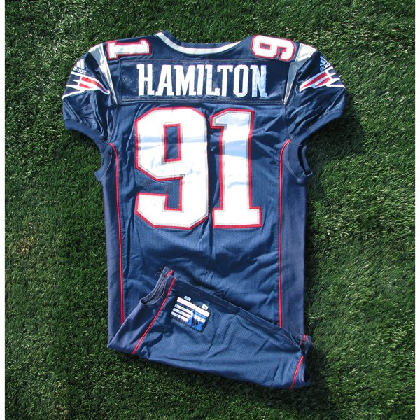 2000 Bobby Hamilton Game Worn #91 Navy Jersey
