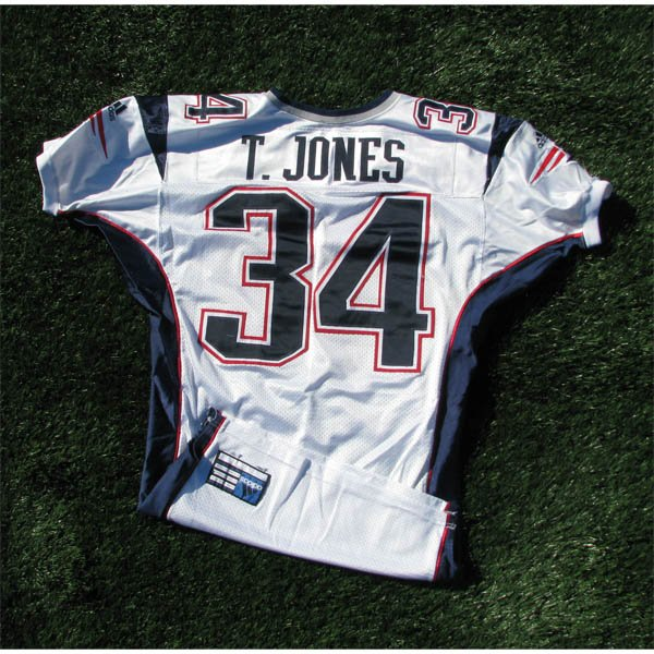 2000 Tebucky Jones #34 White Game Worn Jersey