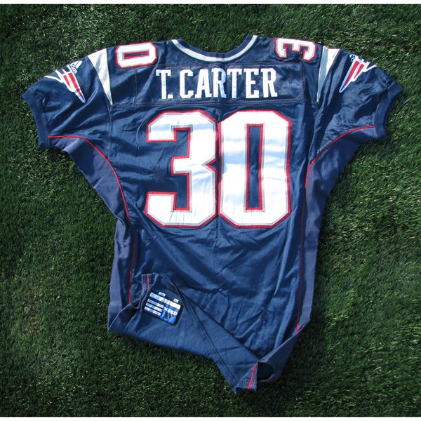 2000 Tony Carter Game Worn #30 Navy Jersey