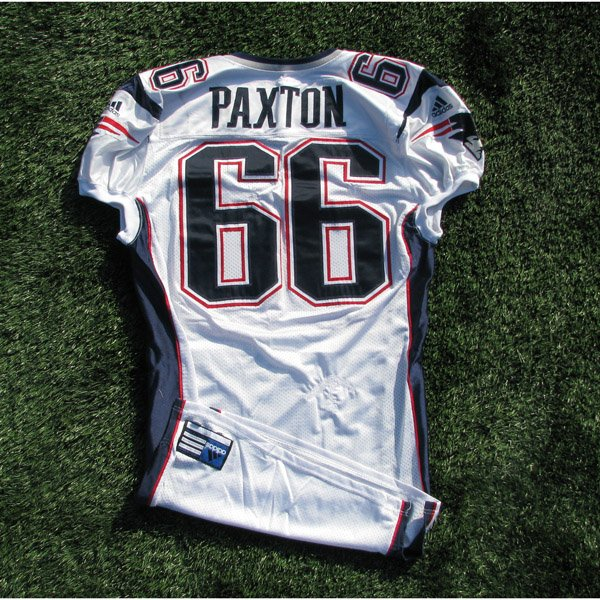 2001 Lonie Paxton Game Worn #66 White Jersey